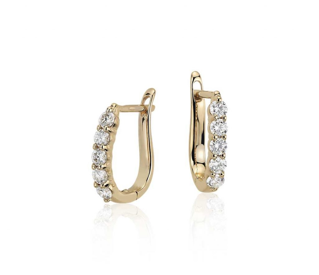 Diamond Hoops Earring