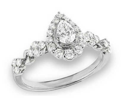 Adelaide pear shaped Engagement Ring
