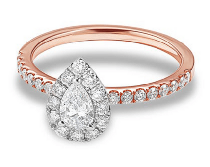 Austin pear shaped Engagement Ring