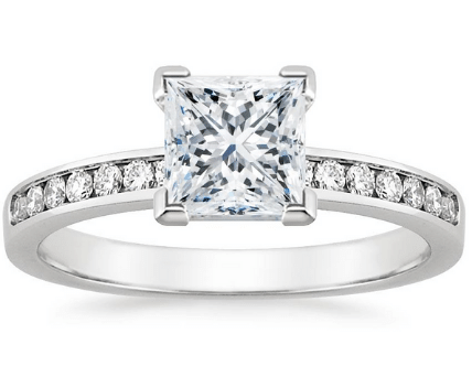 Channel Engagement Ring Setting
